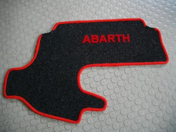 Kofferraumteppich anthr, Fiat 500 mit Abarth-Schriftzug