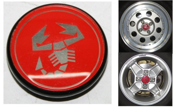 1x Abarth Nabenkappe Radkappe für CD 30 - 55 - 42 mm