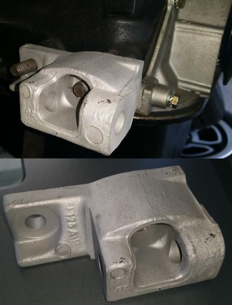 Halter f. Lichtmaschine rechte Seite Fiat 124 Spider AS, BS, CS