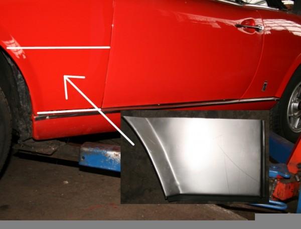 Kotflügel Reparatur-Blech vorne links Fiat 124 Spider