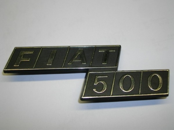 Schriftzug Emblem -Fiat 500- für Motorhaube