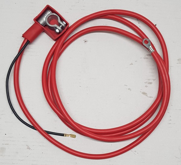 Pluspolkabel für Anlasser in Rot Fiat 500, 126, Fiat 124 Spider
