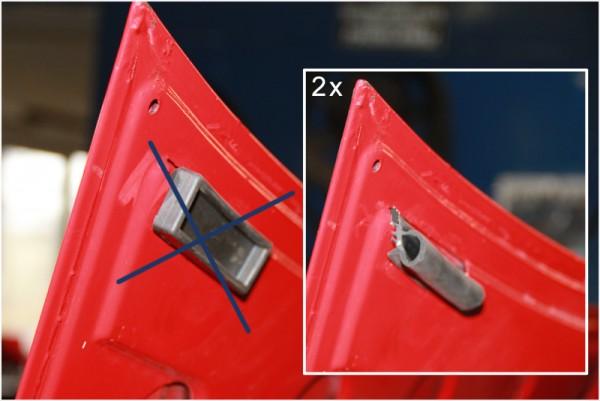 Motorhaubenpuffer, Anschlaggummi für die Motorhaube REPRO