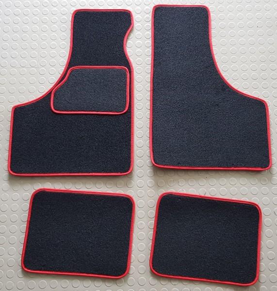 Fußmatten mit roter Umrandung Fiat 500/126