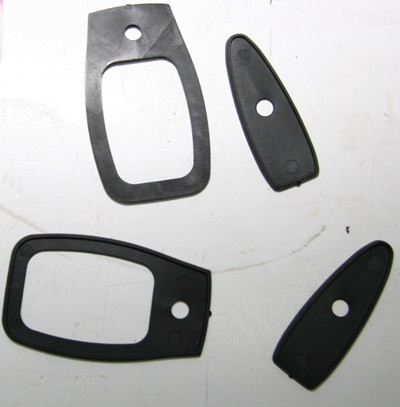 Satz Türgriffunterlage für Türgriff bis Bj.Ṁ78 Fiat 124 Spider