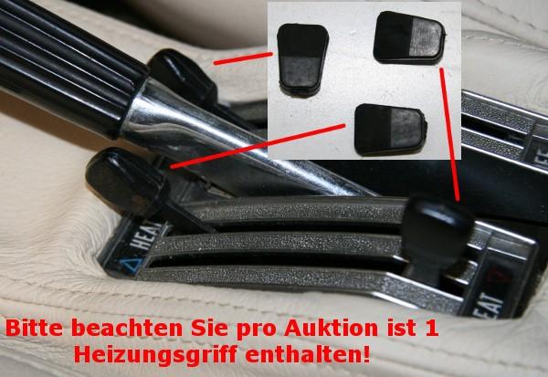 Gummigriff für Heizungshebel Fiat 124 Spider