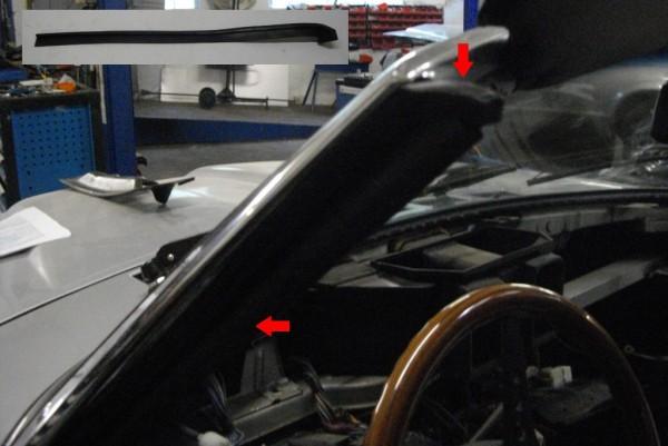 Dichtung für Blechleiste am Scheibenrahmen links Fiat 124 Spider