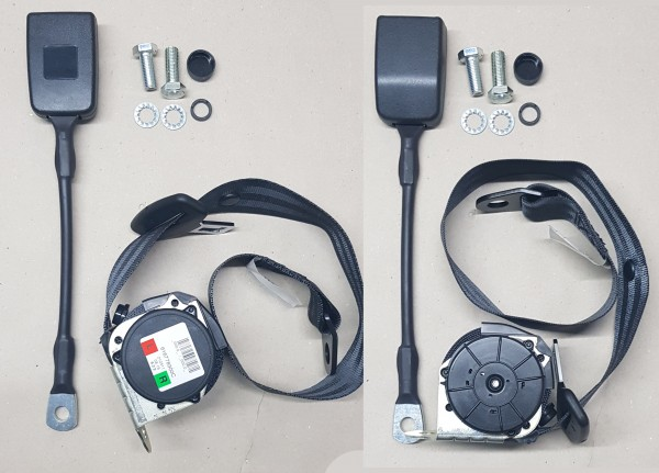 2 Stück Automatik-Sicherheitsgurte schwarz Fiat 124 Spider, Fiat 850, Fiat X19