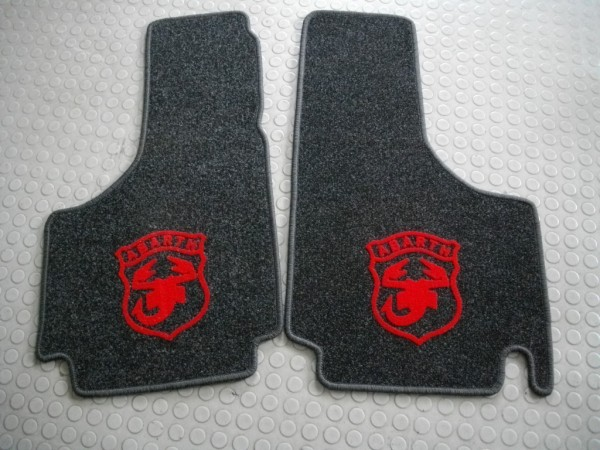 Fußmatte 2 tlg, mit Abarth-Logo Fiat 500 F L R