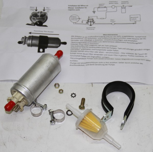 Benzinpumpe elektrisch für Vergaser Fiat 124 Spider AS BS CS, 124 Coupe