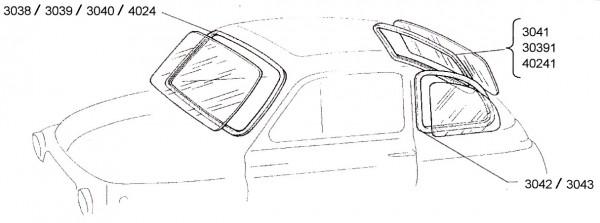 Windschutzscheiben Gummi Fiat 500 L