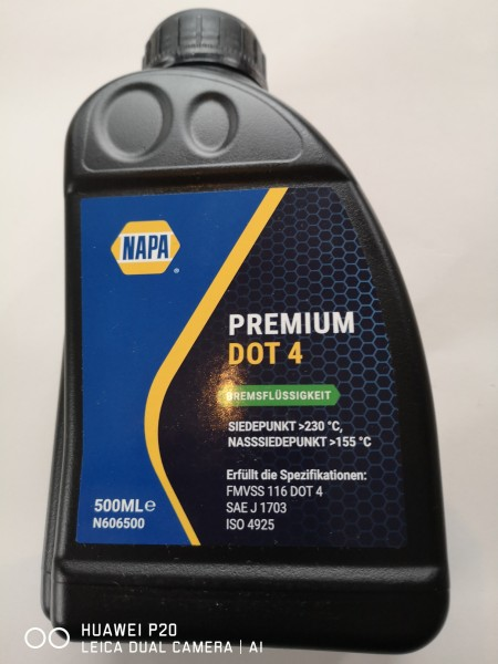 Bremsflüssigkeit Premium Dot 4 500ml Fiat 124, Lancia usw.