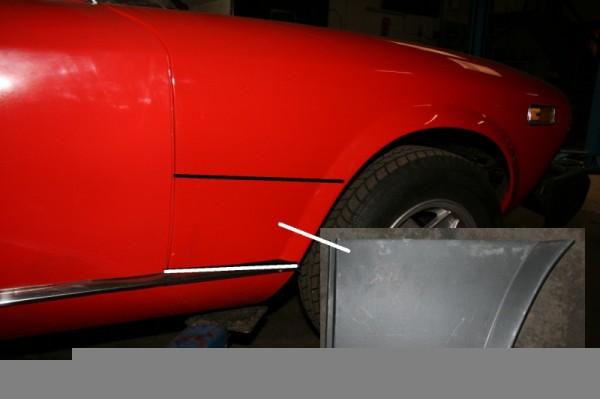 Kotflügel Reparatur Blech vorne rechts Fiat 124 Spider