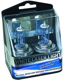 Glühlampe H1 -White Laserlight- Halogenlampenset