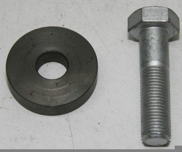 Schraube für Kurbelwelle 55mm mit links Gewinde