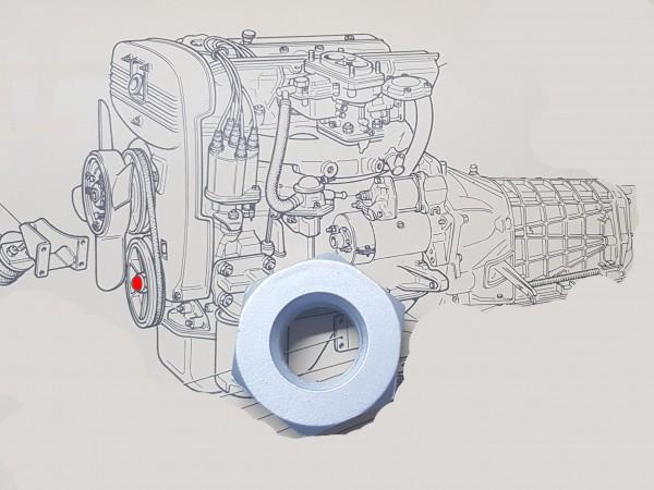 Mutter 38mm für Riemenscheibe, Kurbelwelle Fiat 124, 125, 131, 132, Argenta