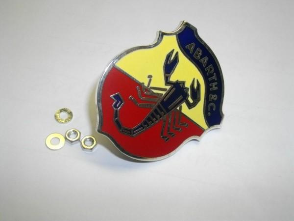 "Abarth Emblem "" ABARTH & C "" 50 mm Fiat 124 Spider, Coupe, 131 Abarth"