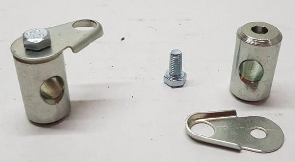 Buchse & Sicherungsblech für Bremskraftregler Fiat 124 Spider, 124 Coupe usw.