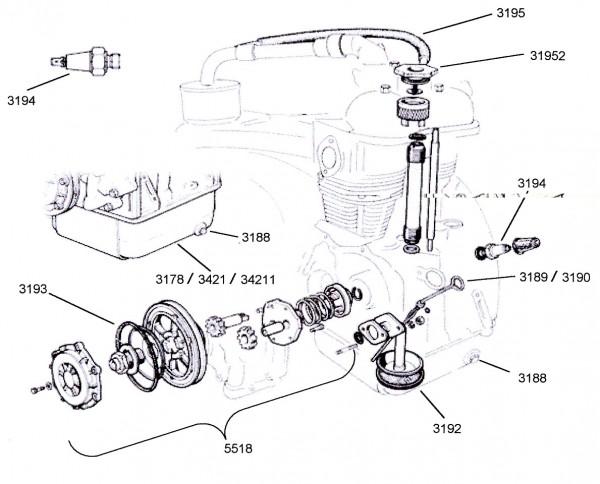 Öl - Meßstab Fiat 500 D / F / L