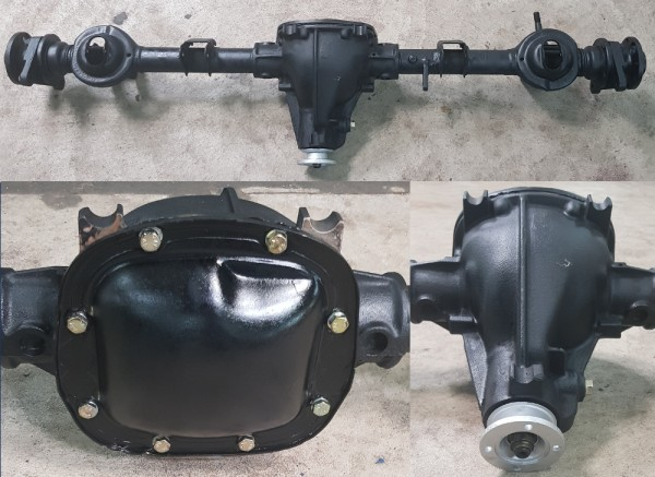 Hinterachse -im AT- komplett, Fiat 124 Spider CS1, CS2, CS0