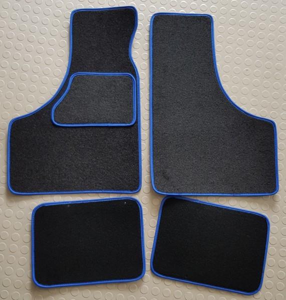 Fußmatten mit blauer Umrandung Fiat 500/126