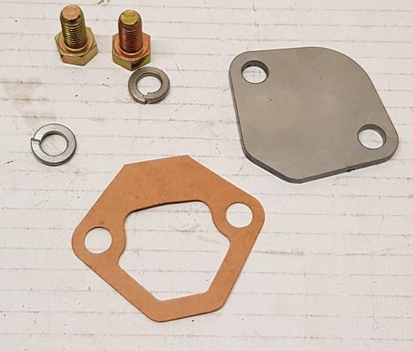 Abdeckung, Platte für Benzinpumpe mechanisch Umrüstung elektrisc